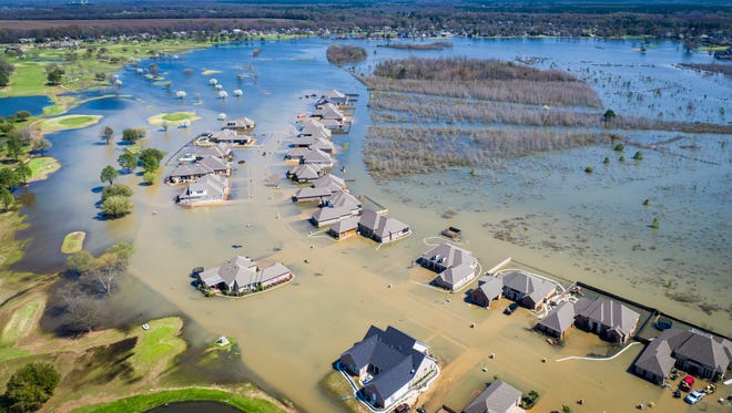 Arial photos of flooding around Northeast Louisiana.