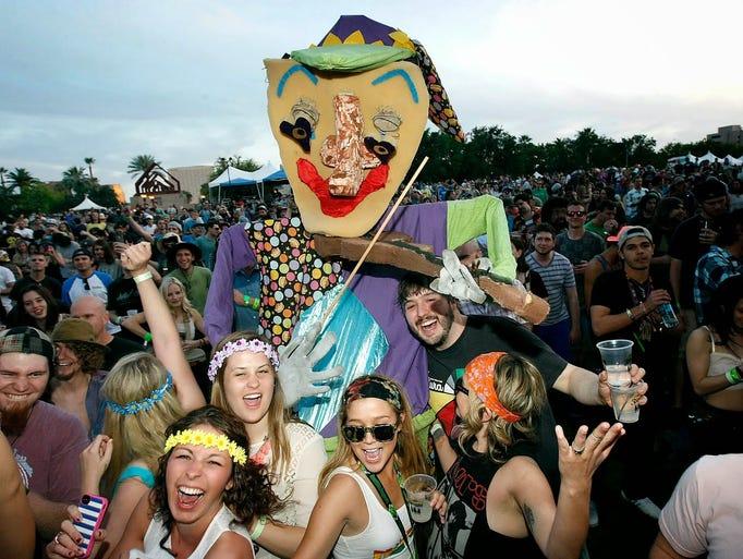 Festival-goers