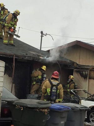 Crews with the Oxnard Fire Department knocked down a vehicle fire that spread to a nearby garage Friday morning on Beverly Drive, officials said.