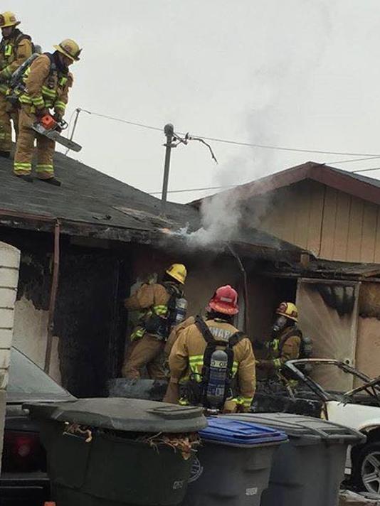 Oxnard garage fire