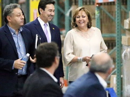 New Mexico Economic Development Secretary Jon Barela was in Santa Teresa in May with New Mexico Gov. Susana Martinez to celebrate the grand opening of MCS Industries... Jerry Pacheco is at the far left.