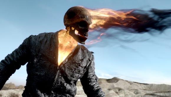Nicolas Gage is the flame-headed phantom of 'Ghost