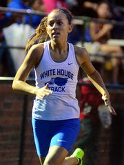 White House High junior Payton Barlow is competing for a state berth in three events in the's Class A-AA Middle Sectional Meet at Lipscomb University.