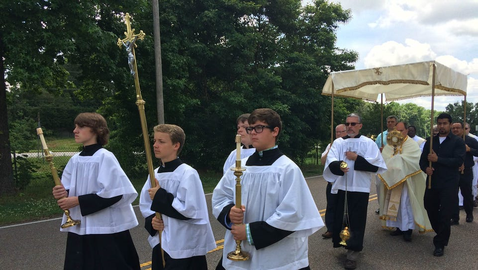 St. Mary's Catholic Church held its annual procession