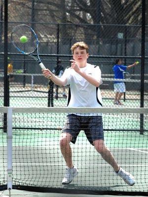Verona senior Brendan Carroll is one of several returning players on the 2016 Verona boys tennis team this spring.