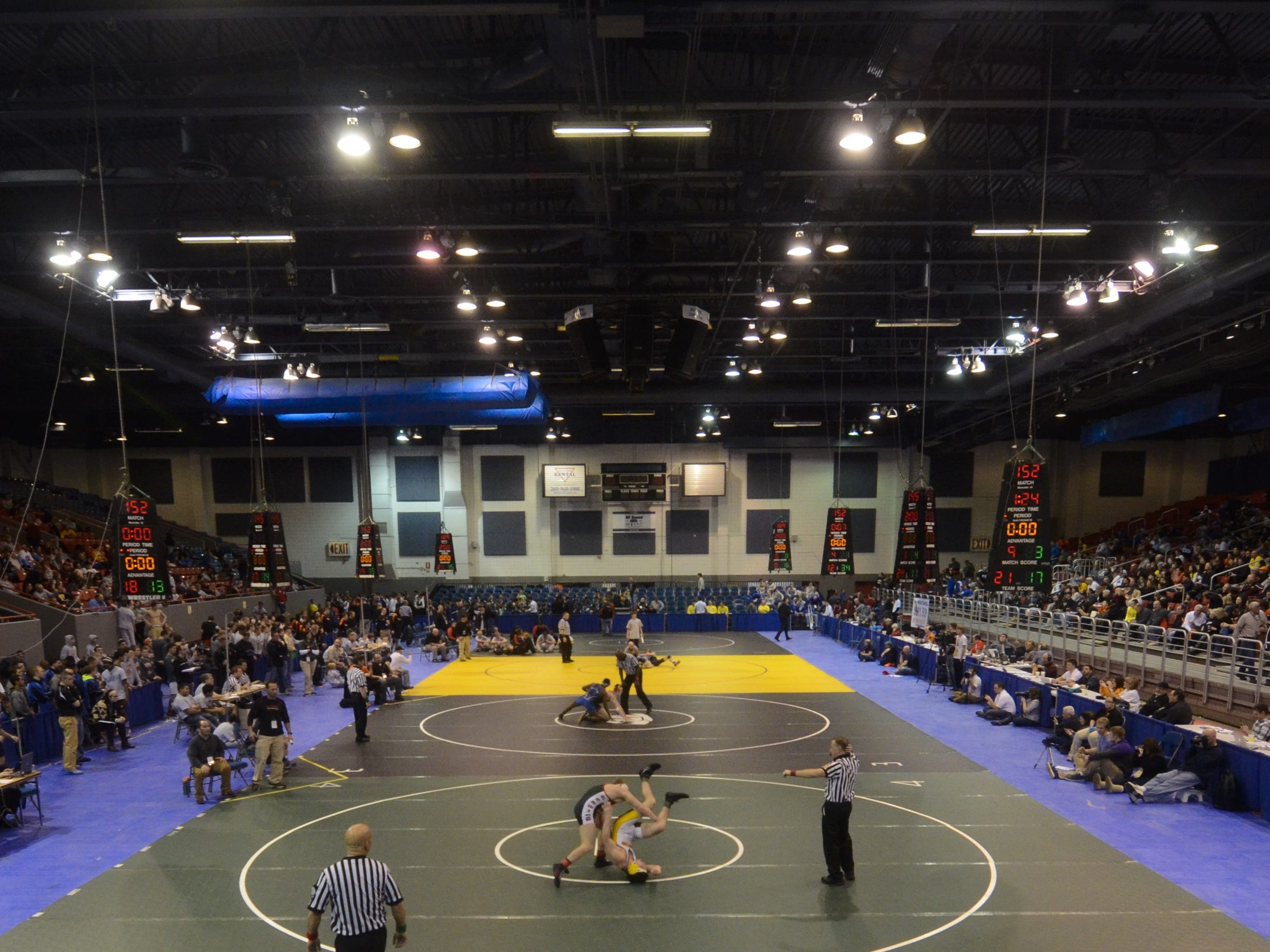 Kellogg Arena, site of the Michigan High School Athletic Association Wrestling Team State Finals.