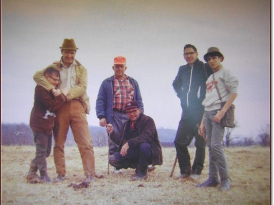 Hikers Stuart Ferguson, Asa Rouse Albert Martin, Bruce,