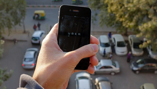 The Uber smartphone app