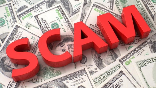 An elderly Cotter couple was scammed out of $40,000 by a man claiming to be an IRS representative.