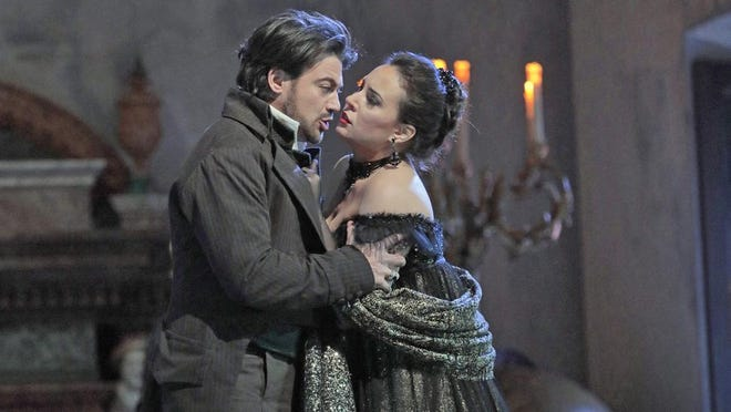 """Giacomo Puccini's tragic tale of revenge, torture and murder in Italy during the Napoleonic times will hit the big screen when The Metropolitan Opera in Manhattan broadcasts its latest production of the masterpiece """"Tosca"""" at 12:55 p.m. Saturday at The Movies at Governor's Square. Vittorio Grigolo and Sonya Yoncheva, show here, star in the production. """"Tosca' is not rated, runs 200 minutes and is subtitled. """"Tosca"""" is also being shown on Wednesday, Jan. 31. Tickets are $25.80, $23.65 and $19.35. Visit www.fandango.com."""