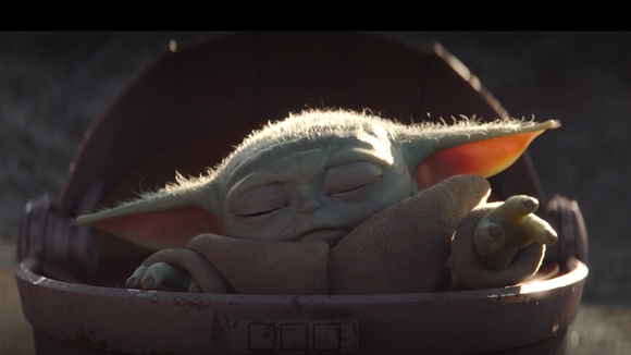 Baby Yoda in The Mandalorian, available to stream now on Disney+ (Photo: Lucasfilm)