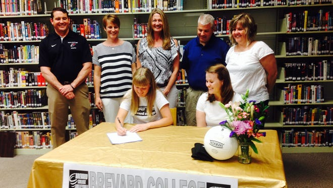 North Buncombe's Taylor Van Reenen has signed to play volleyball for Brevard College.