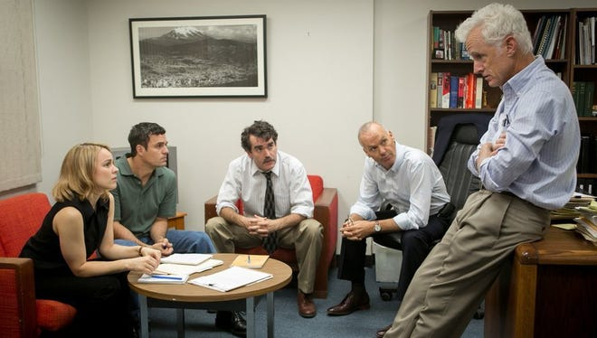"""Spotlight"" was named the best film of 2015 by the Indiana Film Journalists Association."