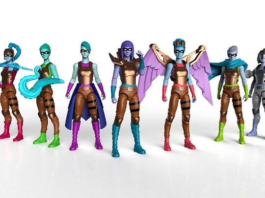 IAmElemental, revealed its new female superhero action figure collection at the Toy Fair in New York. Wisdom was inspired by ancient astronomer and teacher Hypatia. IAmElemental's toys are designed to spark creative play through emphasis on positive character traits as super powers. Last year's collection, Courage, was inspired by Joan of Arc.