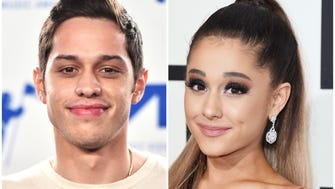 Pete Davidson, left, and Ariana Grande are reportedly engaged.