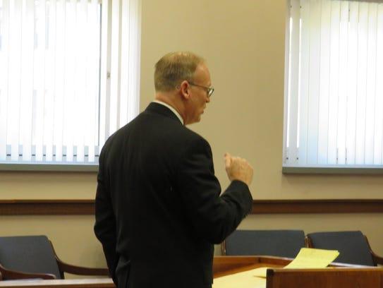 Chief Assistant District Attorney Michael Korchak delivers