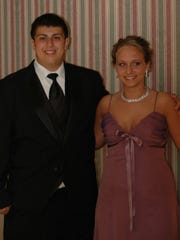 Scott Blumstein, left, and Kristin Murphy at Blumstein's senior prom in 2010. Murphy recalled Blumstein hosting poker games in his home as a teenager.