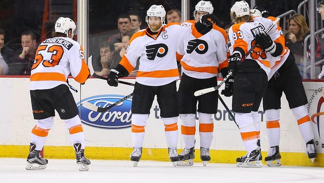 The Flyers exploded for six goals against the league's best defensive team in the New Jersey Devils.