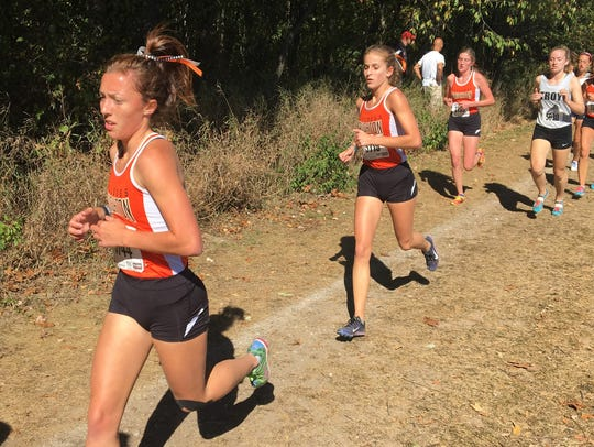 Brighton's Bella VanBuren (front) will run in her fourth