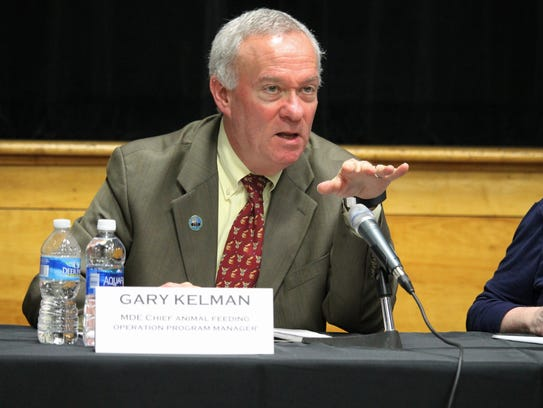 Gary Kelman, MDE's manager of animal feeding operations,