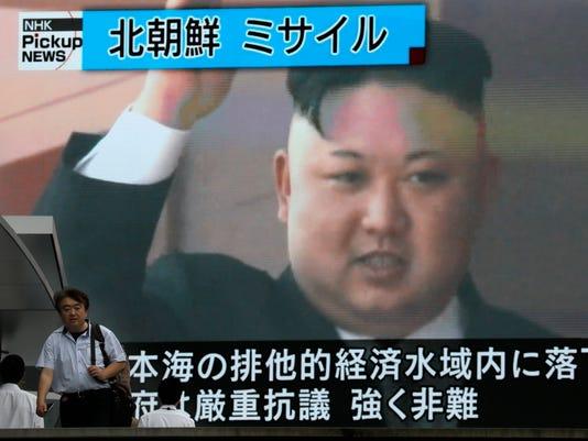 EPA JAPAN NORTH KOREA MISSILE TEST REAX WAR CONFLICTS (GENERAL) JPN TO