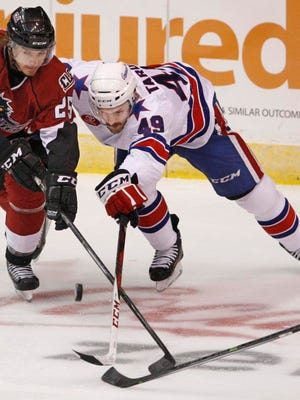 Amerks winger Jamie Tardif remains sidelined because of an upper body injury, but he has started to skate on his own.