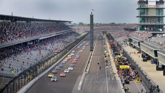 during the Brickyard 400 Sunday, July 24, 2016, afternoon at the Indianapolis Motor Speedway.