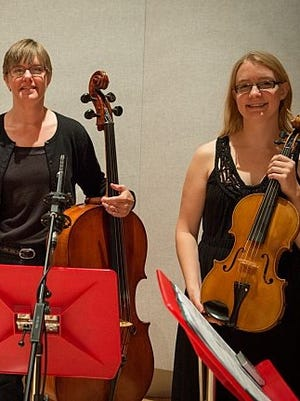 Tina Lamberts, left, and Laura Dahl are creating Central Minnesota Artists Musicale, which will include vocal soloists, piano soloists, a piano and violin duet as well as a duet of piano and cello.