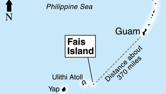 Location map of Fais Island
