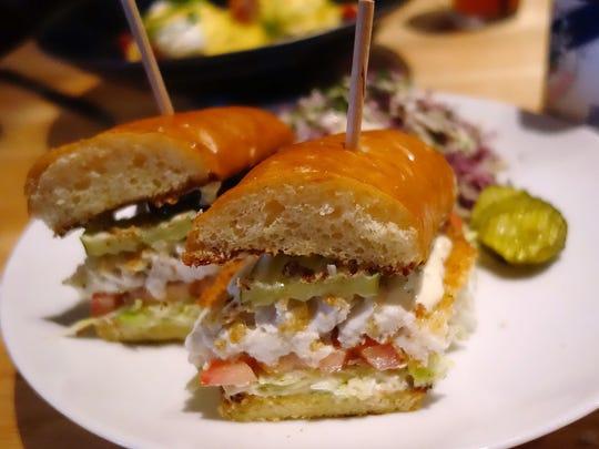 Port St. Lucie fish sandwich at Buck & Rider