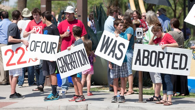 A Center for Arizona Policy anti-abortion rally.