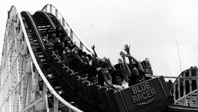 This is the Racer roller coaster circa 1994.