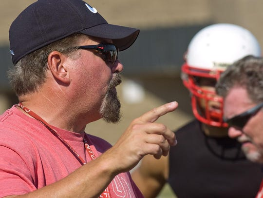 Veteran Canton football coach Tim Baechler makes a