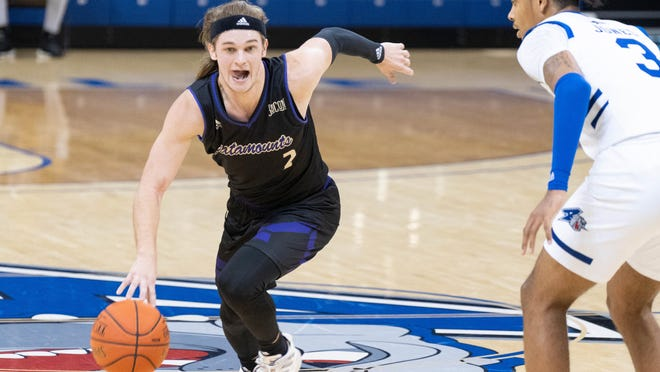 Western Carolina's Matt Halvorsen, shown here competing against UNC Asheville over the weekend, surpassed 1,000 career points during Monday's win over Piedmont College in Cullowhee.
