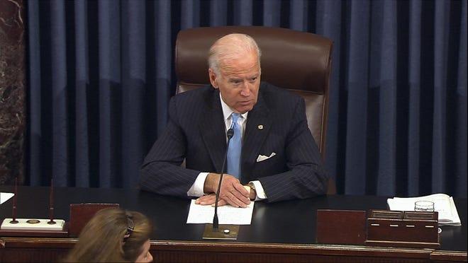Vice President Joe Biden presides over the Senate at the U.S. Capitol in Washington, Monday, Dec. 5, 2016.