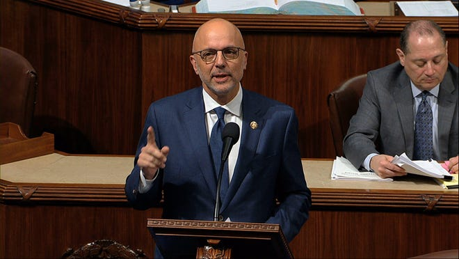Rep. Ted Deutch, D-Fla., speaks as the House of Representatives debates the articles of impeachment against President Donald Trump at the Capitol in Washington, Wednesday, Dec. 18, 2019.