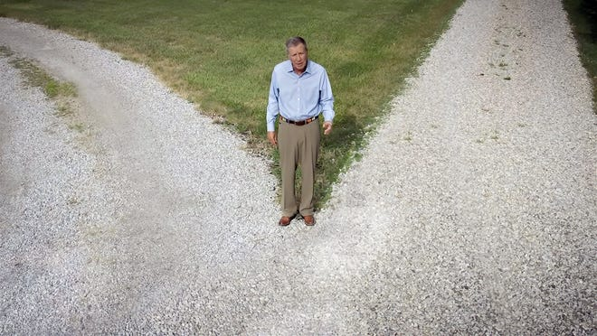 In this image from video, former Republican Ohio Gov. John Kasich speaks during the first night of the Democratic National Convention on Monday, Aug. 17, 2020.