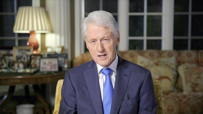 In this image from video, former President Bill Clinton speaks during the second night of the Democratic National Convention on Tuesday, Aug. 18, 2020.