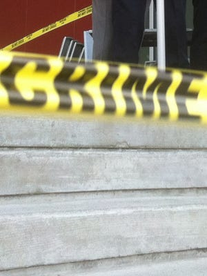 A file photo of crime scene tape taken June 18, 2012.