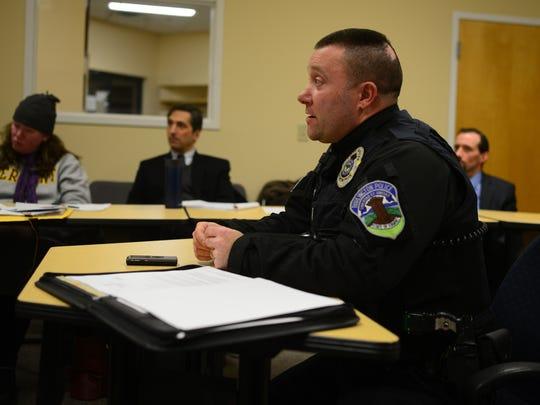 Burlington police Lt. Paul Glynn describes why police