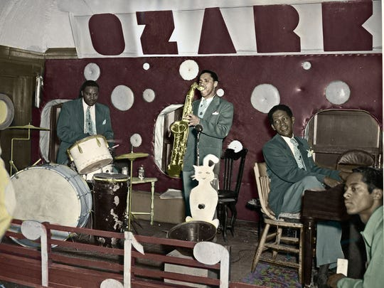 Brown, Maybane and Reed performing at The Ozark Club in the late 1940s.