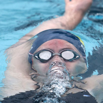 Tegan Klass swam on Whitnall's second-place 300-yard butterfly team at the Racine Park Relays on Aug. 27.