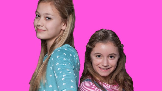 """Meridan Boyd, left, is Beezus and Tatum Lowell is Ramona in """"Ramona Quimby,"""" Jan. 6-22, 2017, at the Des Moines Community Playhouse."""