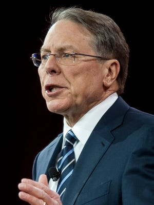 NRA Executive Vice President Wayne LaPierre addresses the American Conservative Union's annual conference at National Harbor, Maryland, in February, 2015.