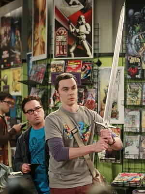 """Sheldon (Jim Parsons, right) and Leonard (Johnny Galecki, left) in """"The Big Bang Theory."""""""