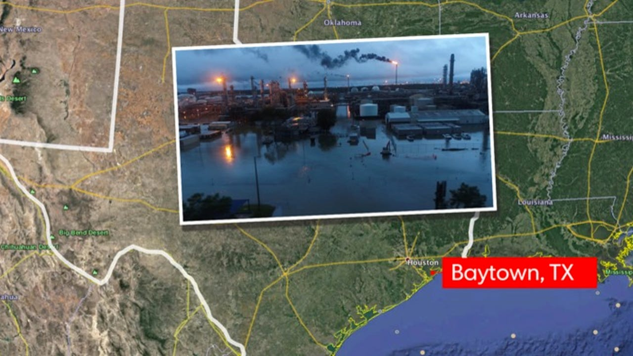 Baytown Texas drone footage