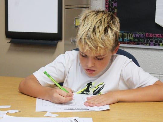 In this file photo, an Alamogordo Public Schools student takes the PARCC exam. Gov. Michelle Lujan Grisham signed two executive orders halting the current New Mexico PARCC testing.