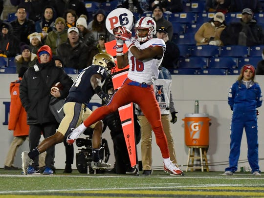 Southern Methodist Mustangs wide receiver Courtland