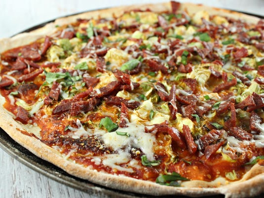 Duck Bacon and Brussels Sprouts Pizza 2