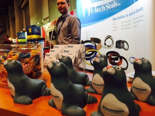 Kevin DeVries of High-Tech Seals displays his Sammy
